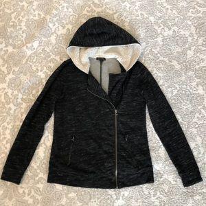 Lucky Brand fleece jacket with Sherpa hood